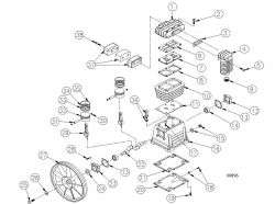 45930, 779101 - Air Compressor Pump Parts schematic