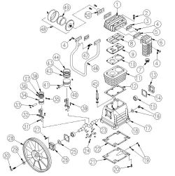 45931, 779102 - Air Compressor Pump Parts schematic