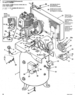 51-C22-80, 53-C22-80, C580, CI5280, C521E80V - Air Compressor Parts schematic