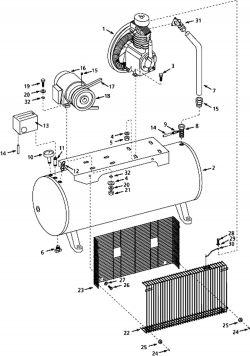 5Z398B - Air Compressor Parts schematic