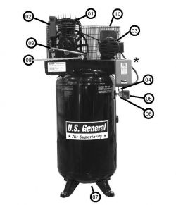 US7580V, 90836 - Air Compressor Parts schematic