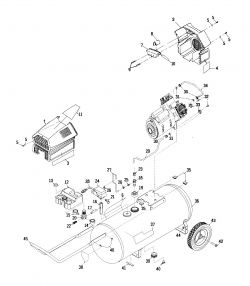 919.152932 - Craftsman Oil Free Twin V Air Compressor Parts schematic