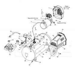 919.167341 - Portable Oil-Free Electric Air Compressor Parts schematic