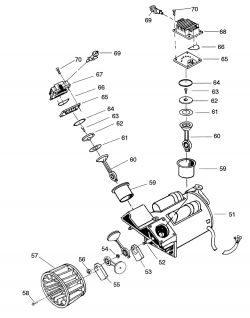919.152932 - Craftsman Oil Free Air Compressor Pump Parts schematic