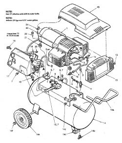 B09J500-20, B09JL500-20A - Air Compressor Parts schematic