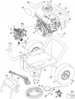 BDP2600 - Pressure Washer Parts schematic