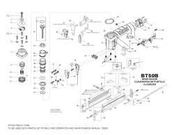 BT50B - Pneumatic Brad Nailer Parts schematic