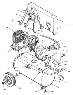 C65C200P1B100, C65C250P1B100 - Air Compressor Parts schematic
