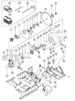 C6DC2 - Cordless Circular Saw Parts schematic