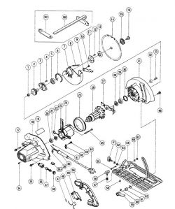 C8 - Circular Saw Parts schematic