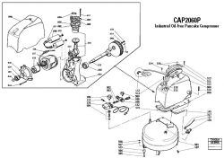 CPACK1850 - Air Compressor/Nailer Parts schematic