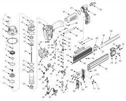 CHN70200 - Pneumatic Brad Nailer Parts schematic