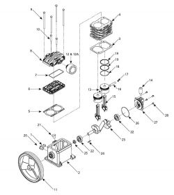 VT490000AV - Air Compressor Pump Parts schematic