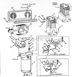 VT558705AJ - Air Compressor Parts schematic