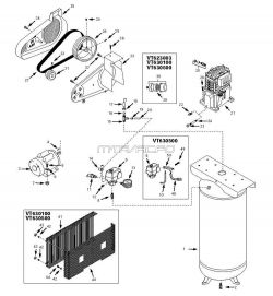 VT630100, VT630500 - Air Compressor Parts schematic