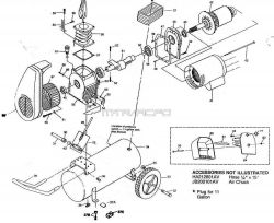 HL700100, HL700200, HL700300 - Air Compressor Parts schematic