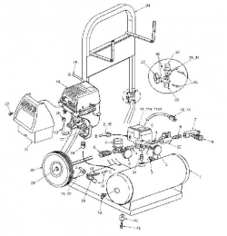 HC125 - Air Compressor Parts schematic