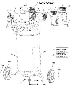 L0603012 - Air Compressor Parts schematic