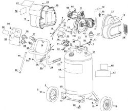 D55168 - Air Compressor Parts schematic