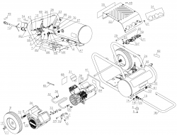 D55371 (2) - Portable Oil-Free Electric Air Compressor Parts schematic