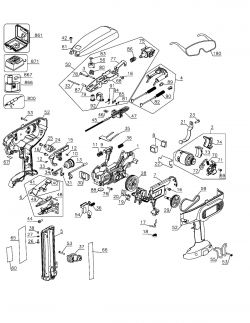 DC608K - Cordless Brad Nailer Parts schematic