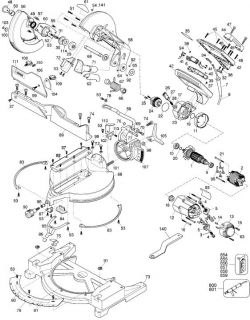 DW705 - Miter Saw Parts schematic