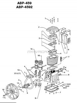 ABP-459 - Air Compressor Pump Parts schematic