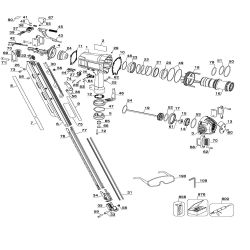 D51825 - Pneumatic Framing Nailer Parts schematic