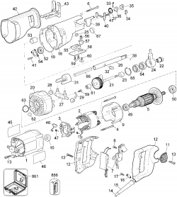 DW309K - Reciprocating Saw Parts schematic