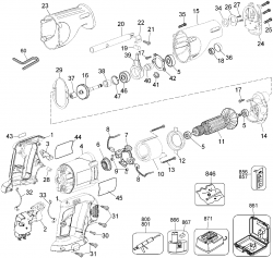 DW937K - Cordless Reciprocating Saw Parts schematic