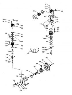A03155 - Air Compressor Pump Parts schematic