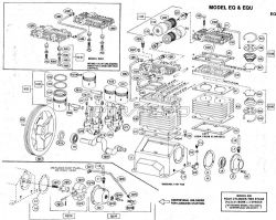 EQ, EQU, EQW - Air Compressor Pumps & Pump Parts schematic