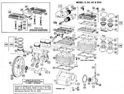 D, DC, DU, DCU - Air Compressor Pump Parts schematic