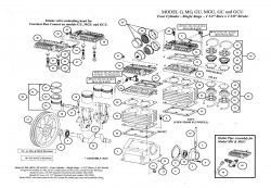 G, GU, GC, GCU, MG, MGU - Air Compressor Pump Parts schematic
