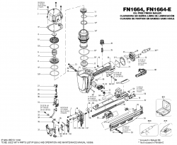 FN1664K - Pneumatic Finish Nailer Parts schematic