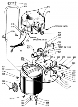 H1512FWK - Air Compressor Parts schematic