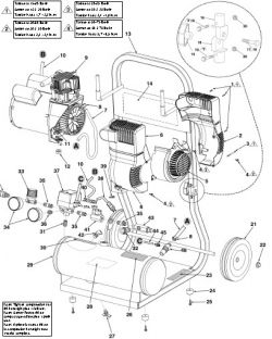 HC125A - Air Compressor Parts schematic
