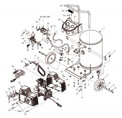HJ300100 - Air Compressor Parts schematic