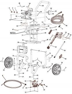 HU80432, HU80432A - Pressure Washer Parts schematic