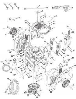 HU80522 - Pressure Washer Parts schematic