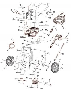 HU80709, HU80911 - Pressure Washer Parts schematic