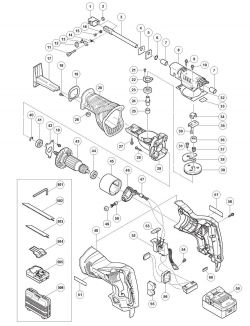 CR18DSL - Reciprocating Saw Parts schematic
