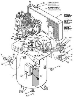 IV5008023,IV5018023, IV5038023,IV5048023, IV5048023,IV7518023 - Air Compressor Parts schematic