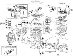 J, JU - Air Compressor Pump Parts schematic