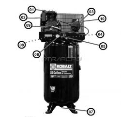 K7580V2, 134749 - Air Compressor Parts schematic