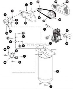 VT6362 - Air Compressor Parts schematic