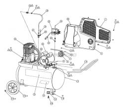 M109CL300-20, M109CL300-22 - Air Compressor Parts schematic