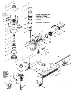 MCN150 - Pneumatic Metal Connector Nailer Parts schematic