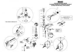 N66C - Pneumatic Coil Siding Nailer Parts schematic