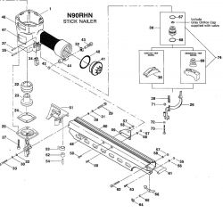N90RHN - Pneumatic Framing Nailer Parts schematic